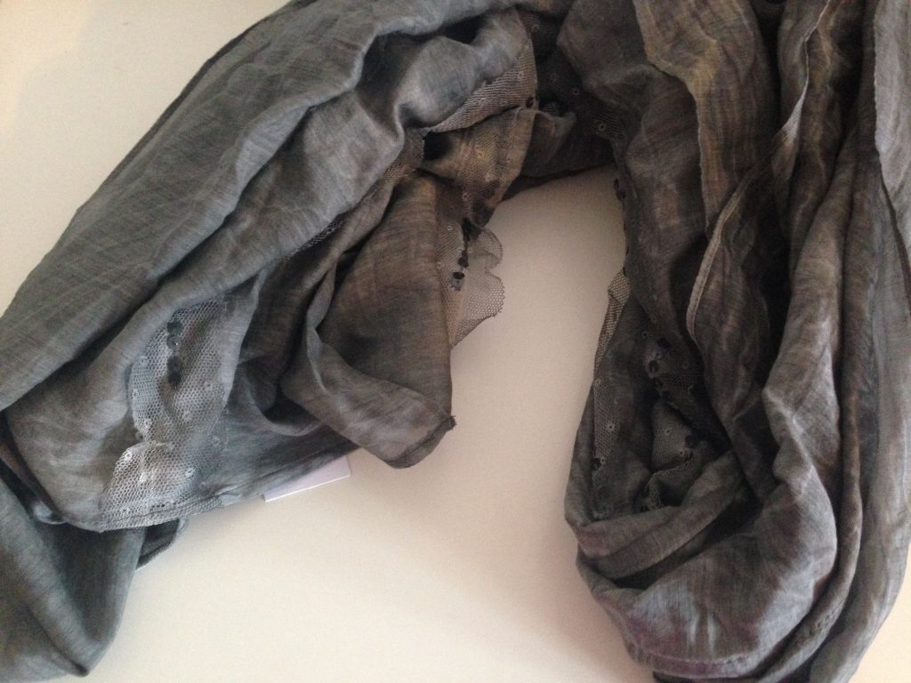 Grey Sequined Scarf