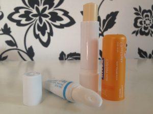 Blistex Intensive Moisturiser, Nivea Sun Protection Lip