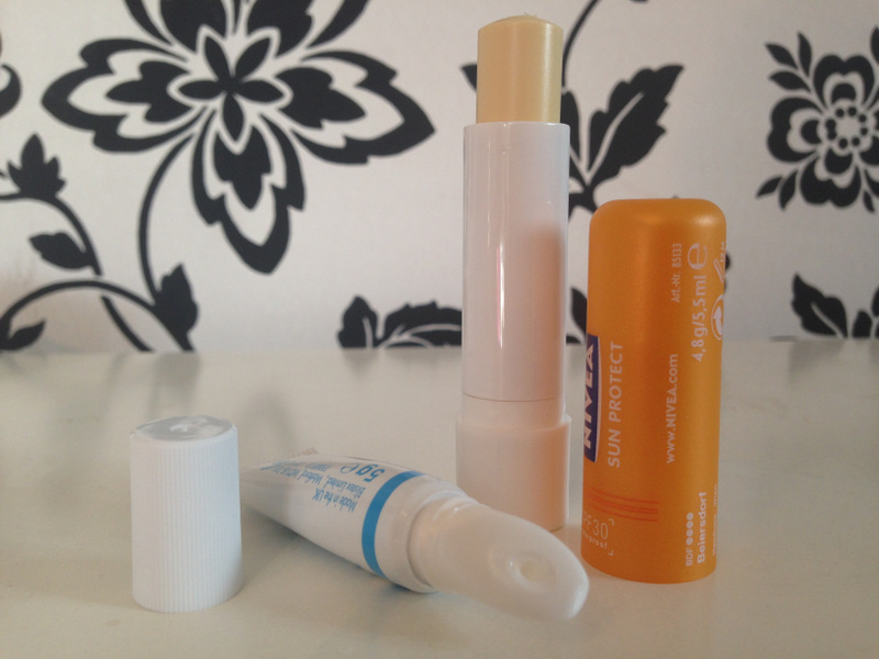 Blistex Intensive Moisturiser, Nivea Sun Protection Lip